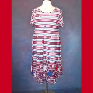 LulaRoe Stars & Stripes Carly Dress Size 2XL